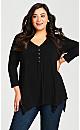 Plus Size Valerie Top - black