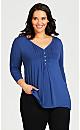 Plus Size Valerie Top - blue