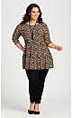 Plus Size Amaya Print Tunic - tan animal