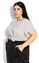 Plus Size City Lights Top - grey marle