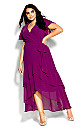 Flirty Tier Maxi Dress - magenta