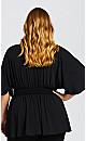 Plus Size Elyse Top - black
