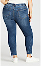 Plus Size Split Jean Mid Wash - average