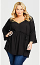 Plus Size Nylah Tunic - black