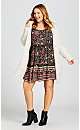 Plus Size Jessa Print Dress - vine print