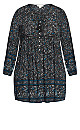 Plus Size Raylee Print Tunic - black floral