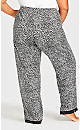 Plus Size Animal Lace Trim Sleep Pant - animal print