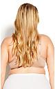 Plus Size Lace Balconette Bra - natural