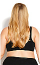 Plus Size Back Smoother Bra - black