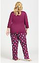 Plus Size Owl Sleep Pant - plum
