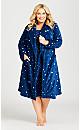 Plus Size Star Sleep Shirt - navy