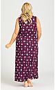 Plus Size Owl Maxi Dress - plum