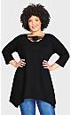 Plus Size Willows Tunic Black - average
