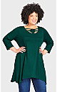 Plus Size Willows Tunic Forest - average