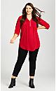 Plus Size Turn Up Jean Black - tall
