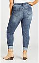 Plus Size Turn Up Jean Light Wash - tall