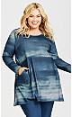 Plus Size Oak Knoll Print Tunic Blue - average