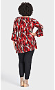 Plus Size Sandy Hill Top - red