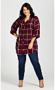 Plus Size Priory Longline Shirt - berry