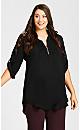 Plus Size Juniper Shirt - black