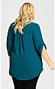 Plus Size Juniper Shirt - teal