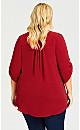 Plus Size Juniper Shirt - ruby