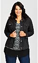 Plus Size Harbor Key Jacket - black
