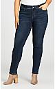 Plus Size Fashion Skinny Jean Dark Wash - tall