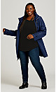 Plus Size Cut Out 3/4 Sleeve Top - black