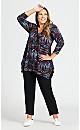 Plus Size Knit Cross Hem Pant Black - average