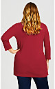 Plus Size Wessex Essential Tee Ruby - average