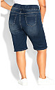 Plus Size Pull On Butter Denim Short - mid wash
