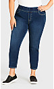 Plus Size Butter Denim Pull-On Jean Mid Wash - petite