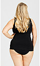 Plus Size Seamless Shaping Cami - black