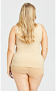 Plus Size Seamless Shaping Cami - beige