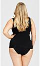 Plus Size Seamless Torsette - black