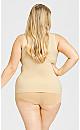 Plus Size Seamless Torsette - beige