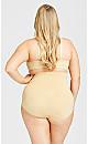 Plus Size Hi Waist Shaper Brief - beige