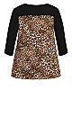 Plus Size Diane Top - black leopard