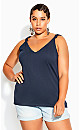 Forget Me Knot Top - navy