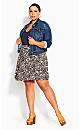 Sun Paisley Skirt - navy