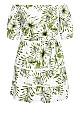 Palm Love Dress - ivory