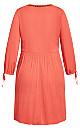 Sunshine Embroidered Dress - tangerine