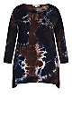 Plus Size Tie Dye Cage Top - midnight