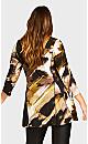 Plus Size Broadwick V-Neck Top - black print
