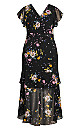 Summer Rose Maxi Dress - black