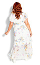 Summer Rose Maxi Dress - white