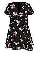 Romantic Sleeve Dress - black