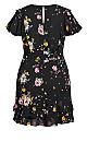 Flutter Rose Dress - black