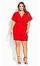 Seasonal Tie Dress - red